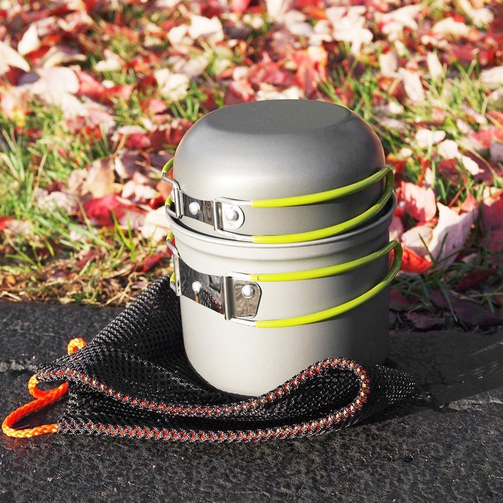 [해외]Ultralight Camping Cookware Utensils Outdoor Tableware set Hiking Picnic Backpacking Camping Tableware Pot Pan 1-2persons/Ultralight Camping Cookw