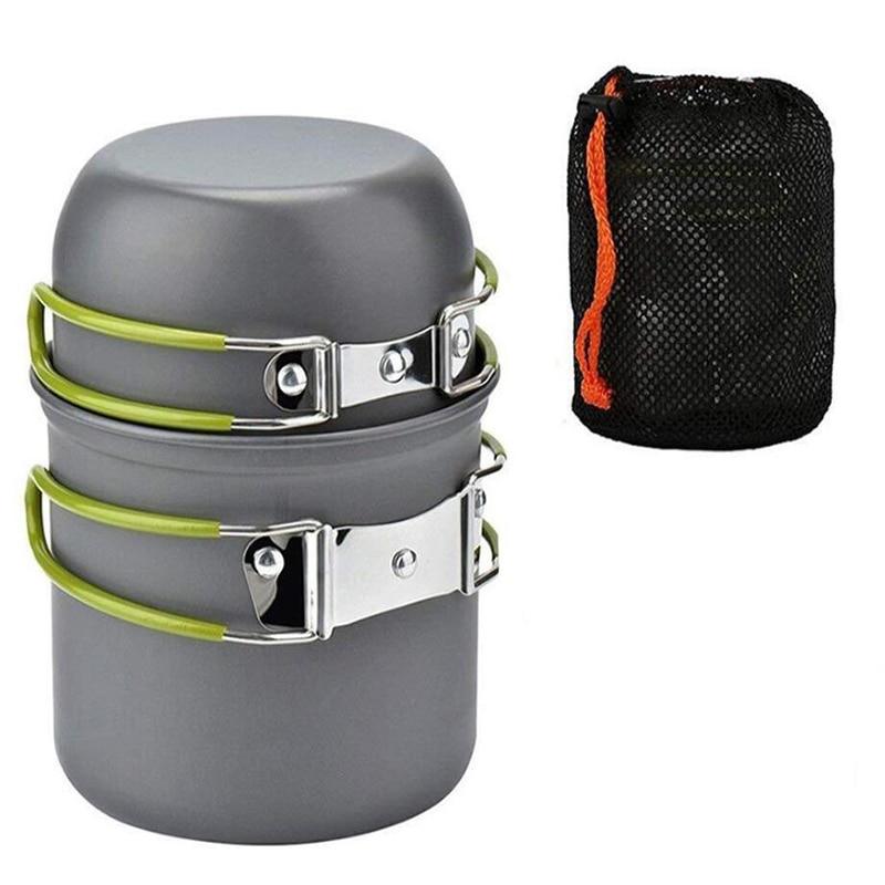 [해외]Joshock Ultralight Camping Cookware Portable outdoor Camping Pot 1-2 People Picnic Barbecue Pot Single Picnic/Joshock Ultralight Camping Cookware