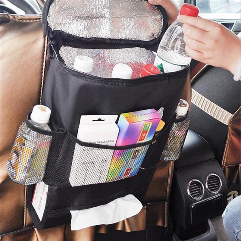 [해외]멀티 포켓 절연 여행 스토리지 가방 다목적 방수 표준 자동차 좌석 다시 주최자 메쉬 포켓 (핑크)/멀티 포켓 절연 여행 스토리지 가방 다목적 방수 표준 자동차 좌석 다시 주최자 메쉬 포켓 (핑크)
