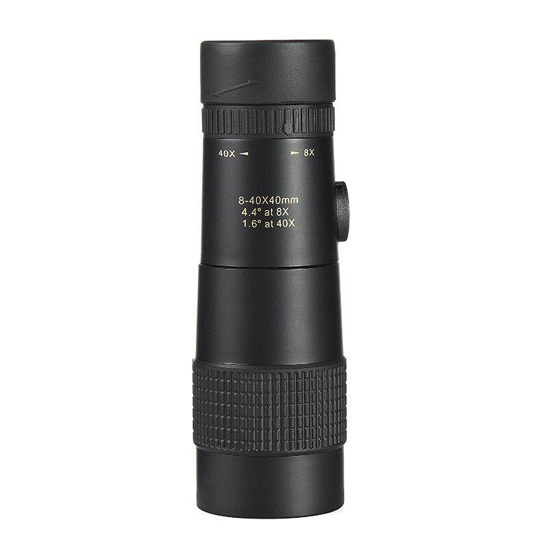 [해외]8-40x40 Glimmering HD single tube Portable outdoors High power Mountaineering Telescope night vision Zoom Cell phone photo/8-40x40 Glimmering HD s