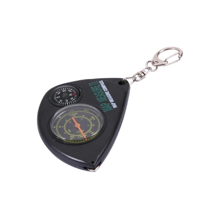 [해외]2 in 1 Compass+Map Measurer Curvimeter Keychain for Outdoor Hiking Camping/2 in 1 Compass+Map Measurer Curvimeter Keychain for Outdoor Hiking Camp