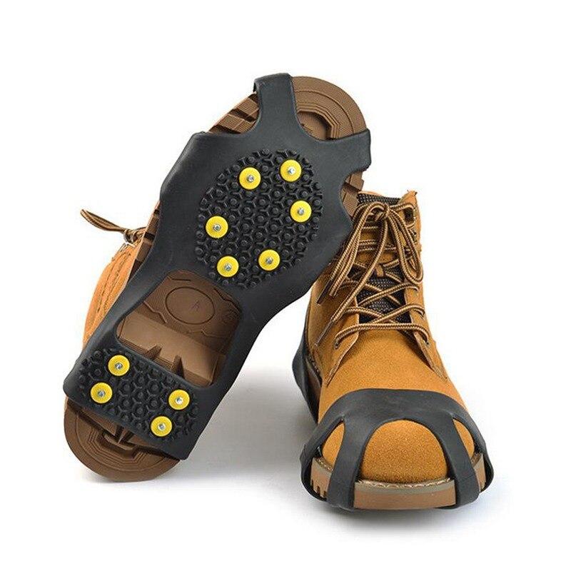 [해외]New 10 Studs Universal Ice Non Slip Snow Shoe Spikes Grips Cleats Crampons Winter Climbing Safety Tool Anti Slip Shoes Cover/New 10 Studs Universa