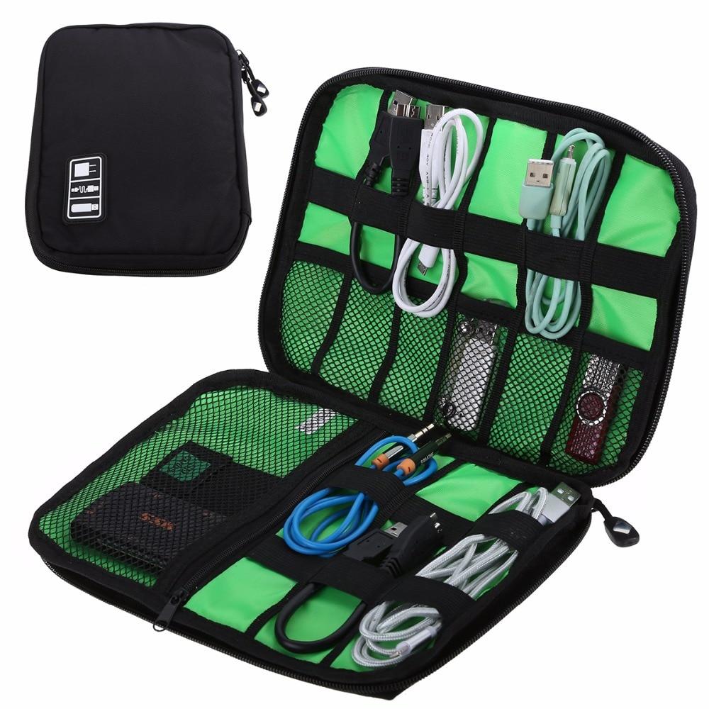 [해외]Waterproof Outdoor Travel Kit Nylon Cable Holder Bag Electronic Accessories USB Drive Storage Case Camping Hiking Organizer Bag/Waterproof Outdoor