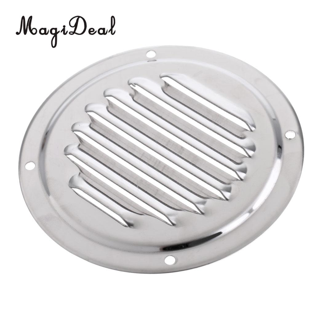 [해외]/Heavy Duty 4 Inch Round Stainless Steel Louvered Vent Grill Cover Air Marine Boat Vent Ventilation Accessories