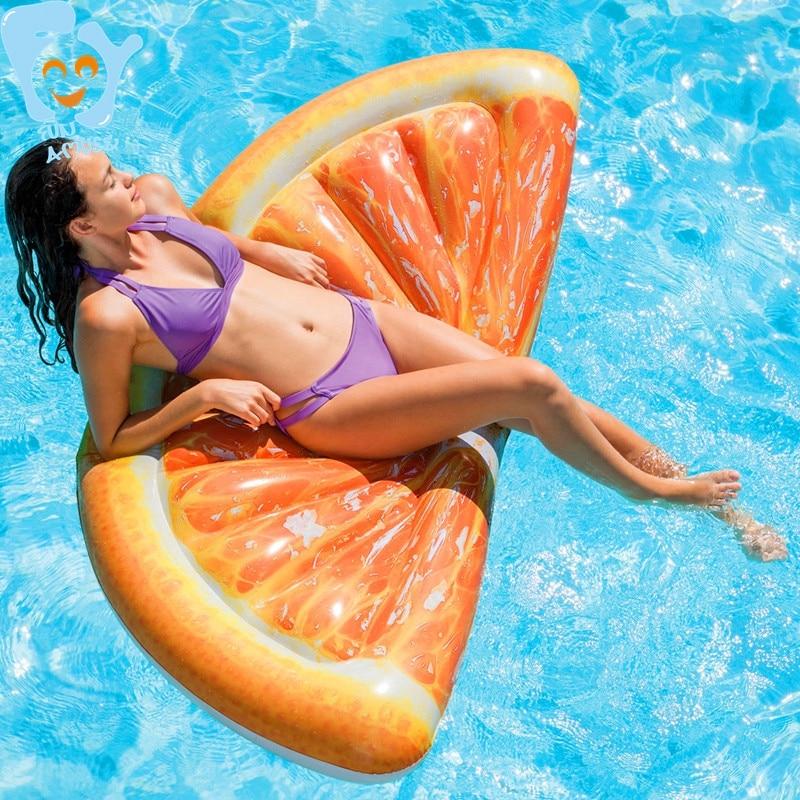[해외]Inflatable Fruit Orange Slice Swimming Float Mattress Inflatable Pool Fun Water Air Bed Beach Toys Raft/Inflatable Fruit Orange Slice Swimming Flo