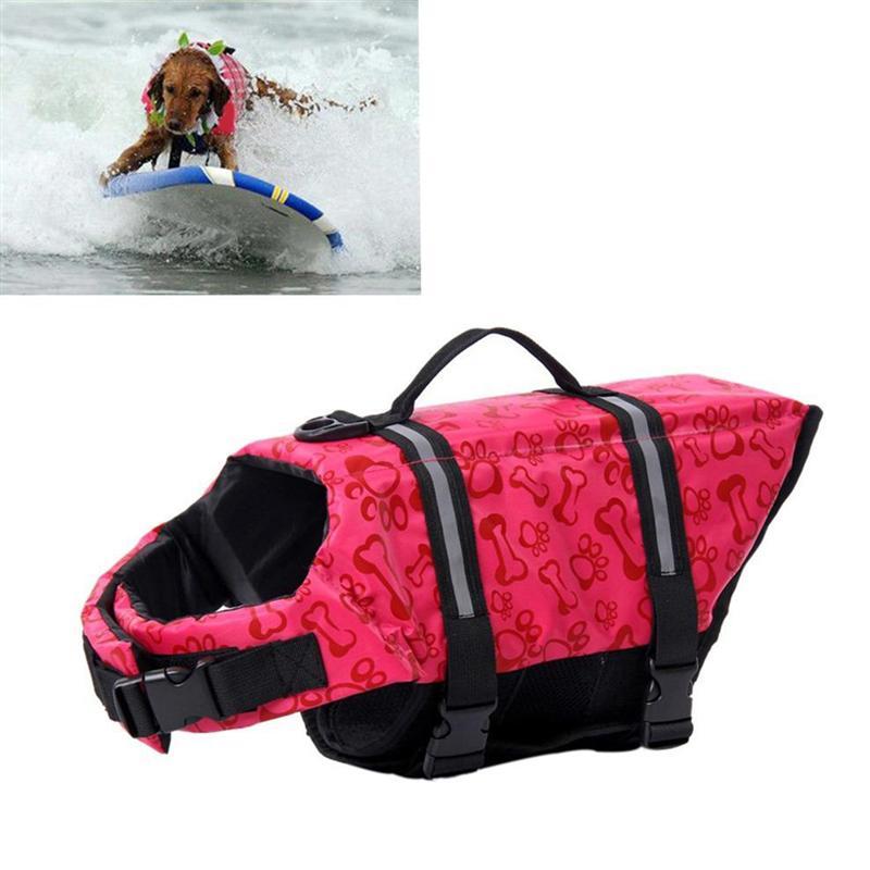 [해외]개 생활 구명 조끼 크기 조정 가능한 개 생활 구명정 튼튼한 구명 조끼 부업 생명의 은인 (분홍색)/Dog Life Jacket Size Adjustable Dog Life Preserver Durable Life Vest Buoyant Lifesaver (Pi