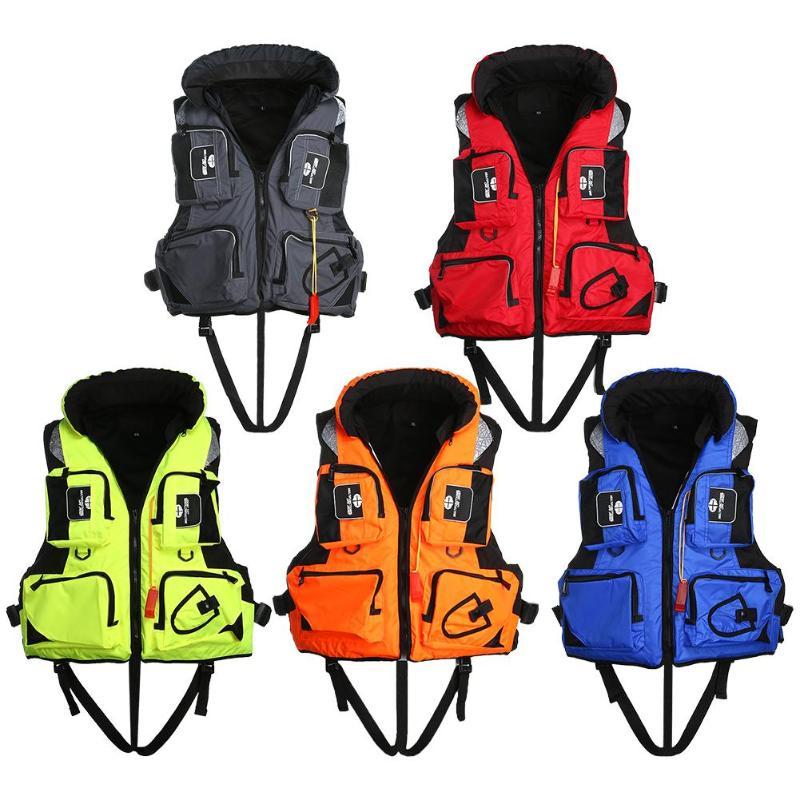 [해외]성인 조정 가능한 안전 구명 조끼 수영 조끼 낚시 표류하는 물 스포츠를생존 안전 자켓 5 색 2XL/Adult Adjustable Safety Life Jacket Swimming Vest Fishing Drifting Boating Survival Safety