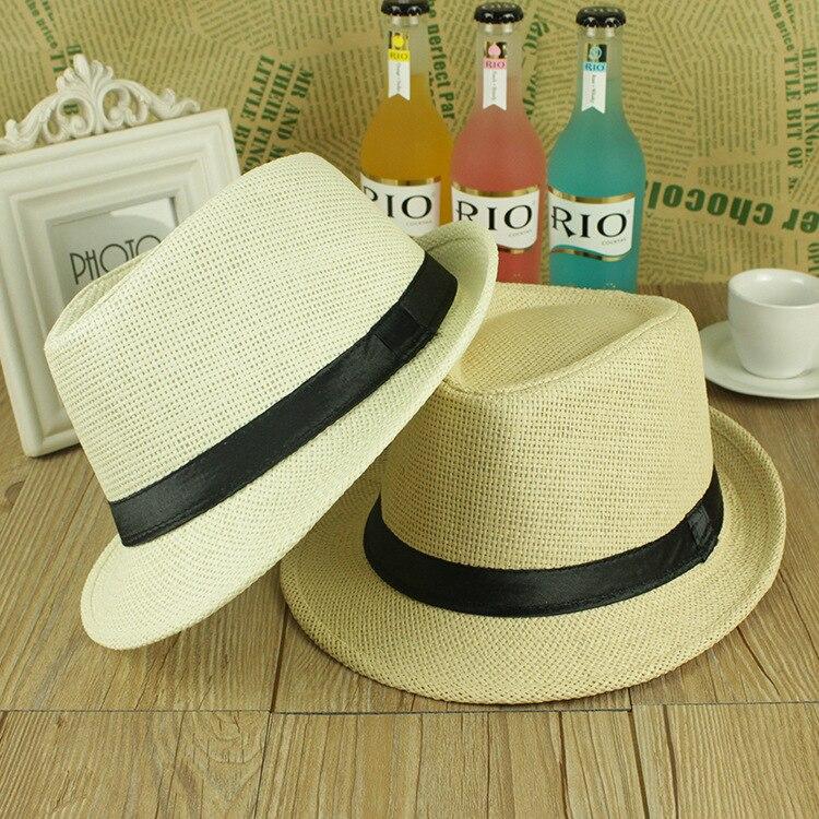 [해외]ONE SIZE ADJUSTABLE UNISEX MEN WOMEN SUMMER BEACH TRILBY STRAW PANAMA WIDE BRIM BEACH CAP ENGLISH STYLE SUN HAT/ONE SIZE ADJUSTABLE UNISEX MEN WOM