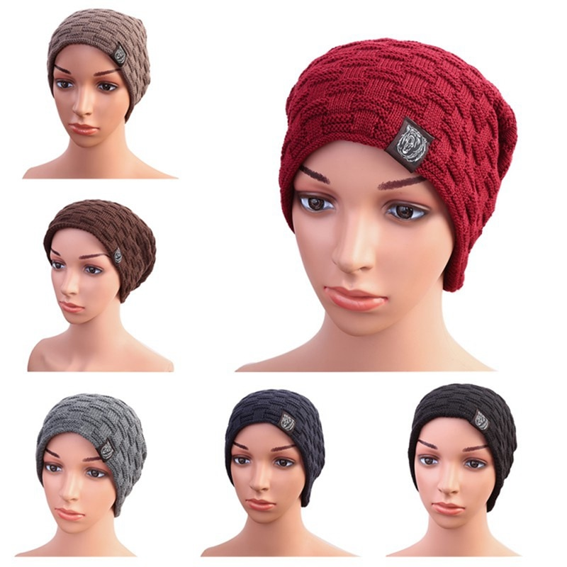 [해외]/Winter Knitted Hat Beanie Men Women Warm Casual Cap Balaclava Thick Velvet LiningSki Scarf Cycling Outdoor Sports Beanies