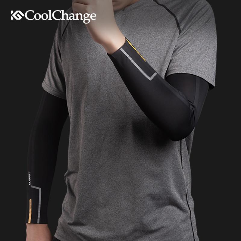 [해외]CoolChange Ice Fabric Cycling Outdoor Arm Warmers Breathable UV Protection Running Basketball Arm Sleeves Sports Safety Gear/CoolChange Ice Fabric