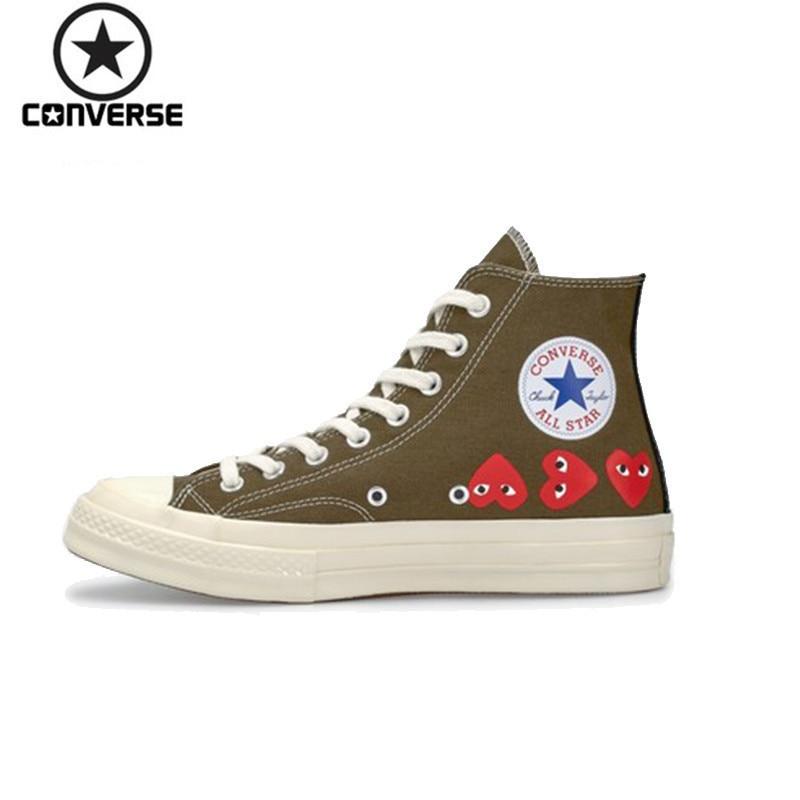 [해외]Converse 1970s x CDG Play Men And Women Breathable Skateboarding Shoes Outdoor Sneakers 162973C/Converse 1970s x CDG Play Men And Women Breathable
