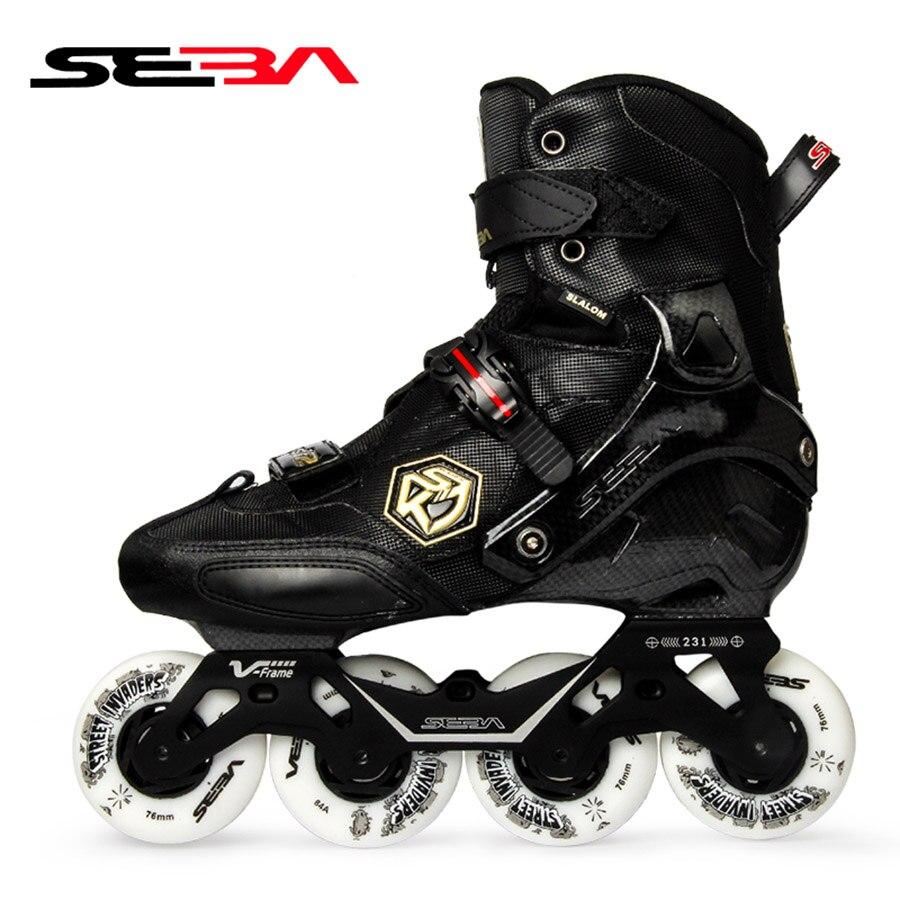 [해외]/100% Original 2019 SEBA KSJ2 Adult Inline Skates Roller Skating Shoes Rockered Frame Slalom Sliding FSK Patines Adulto