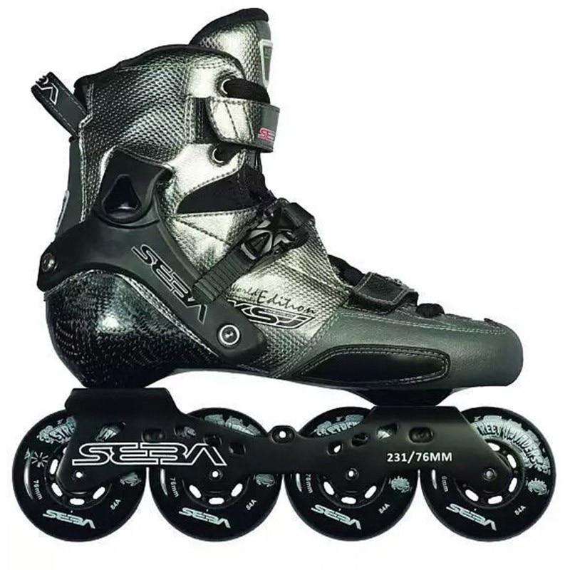 [해외]/Japy Skate 2018 SEBA KSJ Bullet Professional Slalom Inline Skates Carbon Fiber Roller Skating Shoes Slding Free Skating Patines