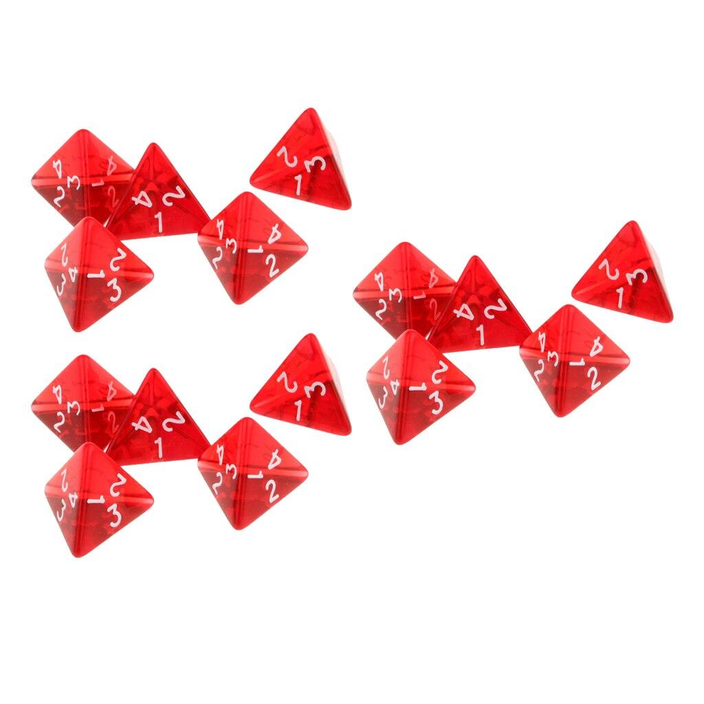 [해외]MagiDeal 15/Set Polyhedral D4 Dice Family for TRPG Board Game Dungeons and Dragons Role Playing Games /MagiDeal 15/Set Polyhedral D4 Dice Family f