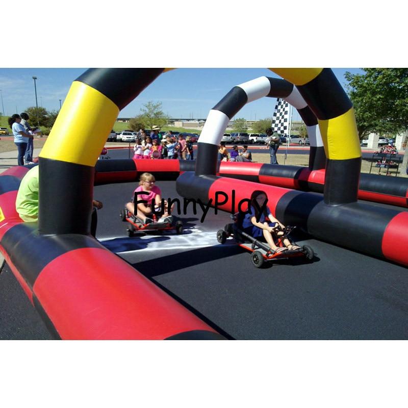 [해외]야외 레이스 트랙 자이언트 풍선 스피디 웨이 이동 카트 Zorb 볼 레이스 트랙 에어 트랙 풍선 공중 제비 트랙/outdoor race track Giant Inflatable Speedyway Go Kart Zorb Ball Race Track air trac