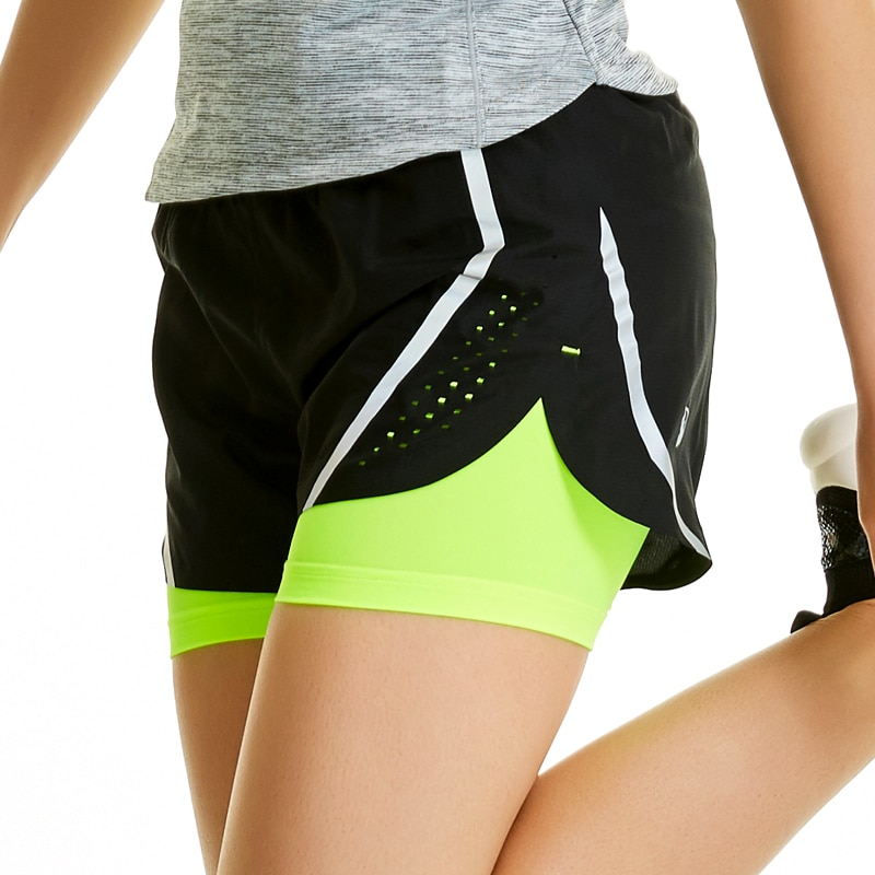Womens running shorts 2 in 1 러닝 스타킹 short womens gym 멋진 여성 스포츠 short fitness ladies running shorts sportswear/Womens running shorts 2 in
